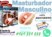 Masturbador vibratorio anal/vaginal/piel real