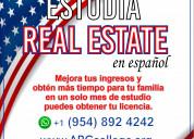 Estudia real estate en español