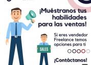 Vendedores freelancer/ sales