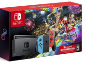 Nintendo switch w/ neon blue & neon red joy-con