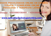 Servicios psicolÓgicos online en espaÑol - terapia