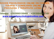 Terapias psicolÓgicas online – psicÓloga latina