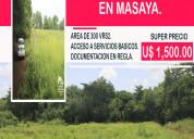 Terrenos en venta en masaya, nicaragua