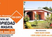 Venta de casa residencia en masaya